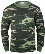 Рубаха термостойкая Rothco Thermal Knit Underwear Top - Woodland Camo - 6100 sale