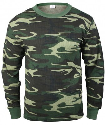 Рубаха термостойкая Rothco Thermal Knit Underwear Top - Woodland Camo - 6100 sale, фото