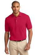 Port Authority Men's Pique Knit Polo Red