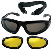 Rothco Trans Tec Tactical Optical System Black w/ Smoke / Yellow Lenses