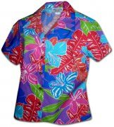 Pacific Legend Aloha Tropical World Hawaiian Shirts - 348-3767 Purple