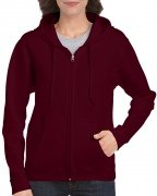 Gildan Women's Heavy Blend Full-Zip Hooded Sweatshirt Maroon