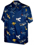 Pacific Legend Men's Hawaiian Shirts 410-3938 Navy