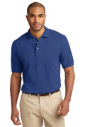 Port Authority Men's Pique Knit Polo Royal