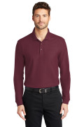 Port Authority Long Sleeve Core Classic Pique Polo Burgundy K100LS