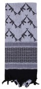Rothco Crossed Rifles Shemagh Tactical Scarf White - 8737