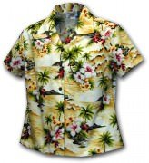 Pacific Legend Waikiki Beach Hawaiian Shirts - 348-3238 Maize