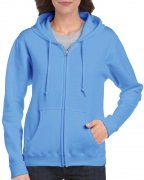 Gildan Women's Heavy Blend Full-Zip Hooded Sweatshirt Carolina Blue