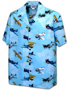 Pacific Legend Men's Hawaiian Shirts 410-3938 Sky