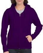 Gildan Women's Heavy Blend Full-Zip Hooded Sweatshirt Purple