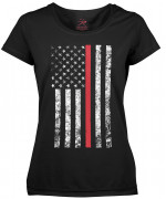 Rothco Womens Thin Red Line Longer T-Shirt 5698