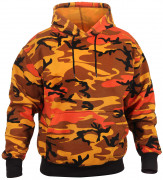Rothco Pullover Hooded Sweatshirt Savage Orange Camo 3690