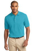Port Authority Men's Pique Knit Polo Turquoise