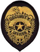 Нашивка Security Officer Gold Patch