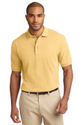 Port Authority Men's Pique Knit Polo Yellow