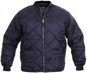 Rothco Diamond Nylon Quilted Flight Jacket Navy Blue - 7160