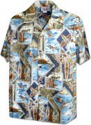 Men's Hawaiian Shirts Allover Prints - 410-3888 Slate