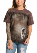 The Mountain T-Shirt Grey Wolf Portrait 105892