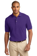 Port Authority Men's Pique Knit Polo Purple