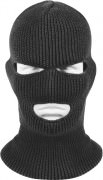 Маска Wisconsin Knitwear® Acrylic Three-Hole Face Mask - Black - 5504