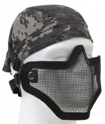 Bravo Tac Gear Strike Steel Half Face Mask Black 847