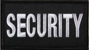 Нашивка SECURITY Velcro Patch - Silver & Black