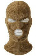 Маска Wisconsin Knitwear® Acrylic Three-Hole Face Mask - Coyote Brown - 5539