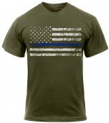 Rothco Thin Blue Line T-Shirt Olive 1092