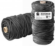 Rothco Nylon Paracord 550lb 300 Ft Tube Black 138