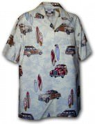Pacific Legend Matched Front Men's Hawaiian Shirts - 442-3658 Cream