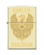 Zippo Harley-Davidson Eagle Wings Pocket Lighter Cream Matte