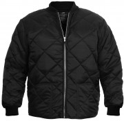 Rothco Diamond Nylon Quilted Flight Jacket Black - 7230 sale