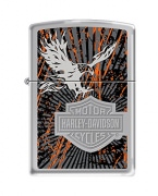 Zippo Harley-Davidson Eagle Wings Pocket Lighter High Polish Chrome