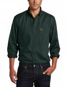 Wrangler Men's RIGGS Workwear® Twill Work Shirt # Forest Green