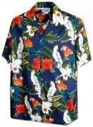 Men's Hawaiian Shirts Allover Prints - 410-3896 Navy