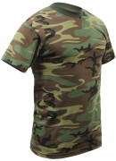 Rothco T-Shirt Woodland Camouflage 8777
