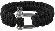 Rothco Paracord Bracelet With D-Shackle Black 915