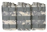 Подсумок для трех магазинов M16/M4 Rothco MOLLE Open Top Triple Mag Pouch - ACU Digital Camo - 40004