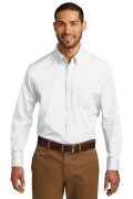 Port Authority Long Sleeve Carefree Poplin Shirt White W100