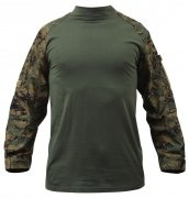 Rothco Military FR NYCO Combat Shirt Woodland Digital Camo 90005