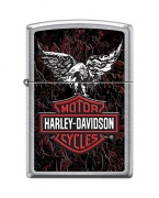 Zippo Harley-Davidson Eagle Wings Pocket Lighter Street Chrome
