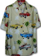 Pacific Legend Matched Front Men's Hawaiian Shirts - 442-3563 Maize