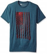 Levis Men Woosah T-Shirt with American Flag Navy Heather