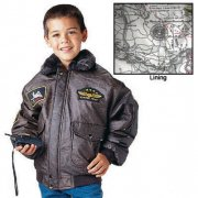 Rothco Kids WWII Aviator Flight Jacket Brown 7675