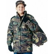Rothco Kid's M-65 Field Jacket Woodland Camo 7660
