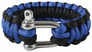 Rothco Paracord Bracelet With D-Shackle Royal Blue / Black 912