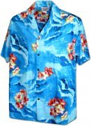 Men's Hawaiian Shirts Allover Prints 410-3902 Blue