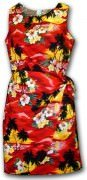 Pacific Legend Hawaiian Sarong Dress - 313-3104 - Red