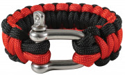 Rothco Thin Red Line Paracord Bracelet Wtih D-Shackle 911