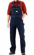 Round House® Classic Blue Denim Low Back Zipper Fly Bib Overalls - 907